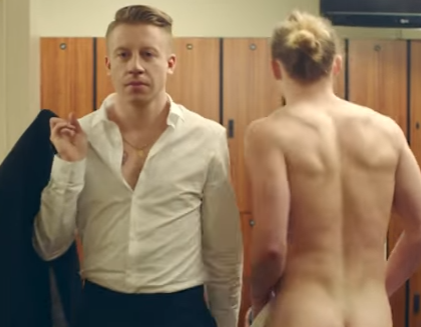 Male nudity in Macklemore video